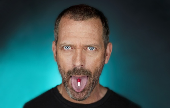 Картинка язык, House M.D., Хью Лори, таблетки
