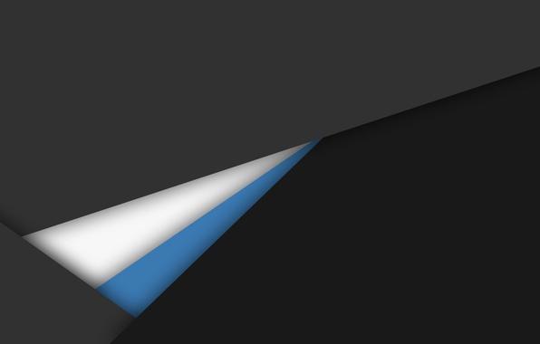 Картинка белый, линии, серый, голубой, черный, геометрия, design, material