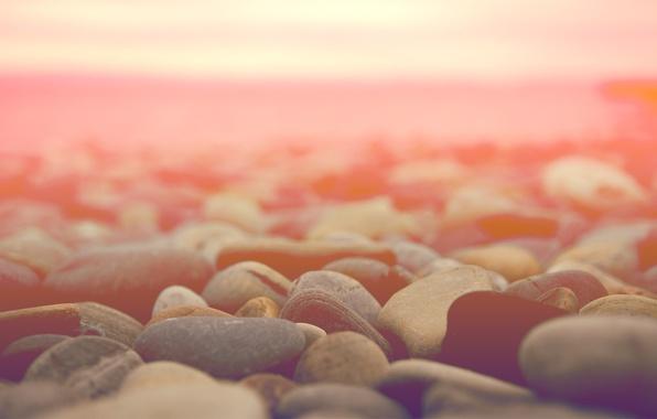 Картинка макро, камни, горизонт, светлый фон, stones