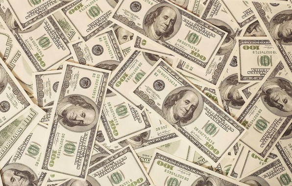 Картинка зелень, деньги, доллары, валюта, сто, баксы, Бенджамин Франклин, финансы, Benjamin Franklin