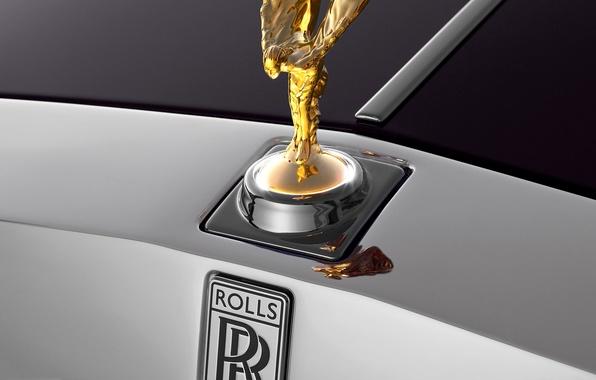 Картинка макро, Rolls-Royce, эмблема, ролс ройс