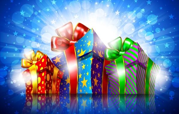 Фото подарки ленты боке праздник