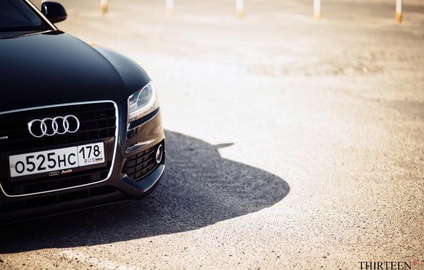 Картинка машина, авто, Audi, Ауди, фара, фотограф, auto, photography, photographer, шильдик, Thirteen, Марк Литовкин, A5 Coupe