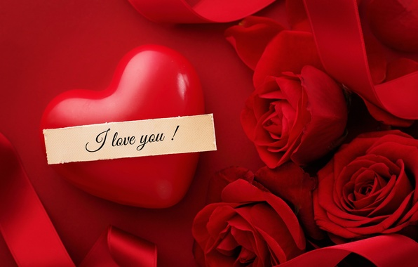 Картинка любовь, сердце, розы, red, love, heart, romantic, silk, Valentine's Day, roses