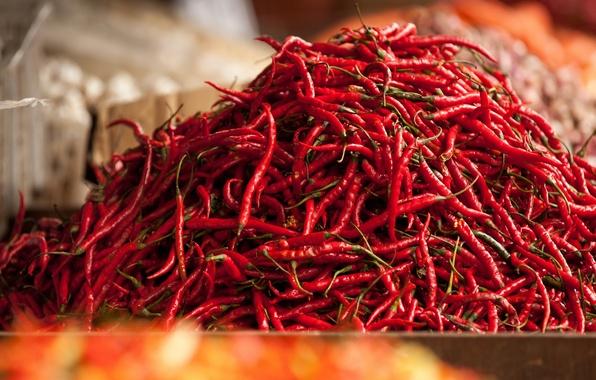 Картинка красный, перец, много, рынок, базар, чили, овощ, Малазия