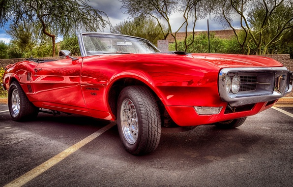 Картинка HDR, Pontiac, muscle car, Понтиак, передок, Firebird, Фаербёд