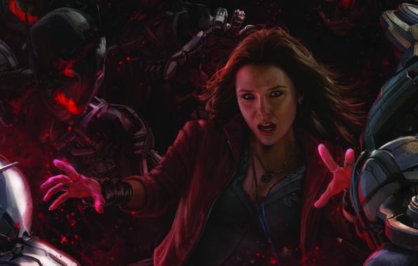 Картинка Marvel, Мстители, Avengers, Марвел, Scarlet Witch, Алая Ведьма, 2015, Elizabeth Olsen, Элизабет Олсен, Age, Avengers …