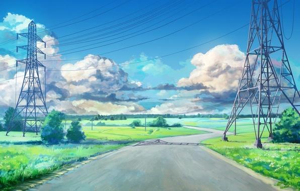 Обои игра, everlasting summer, дорога, бесконечное лето ...
