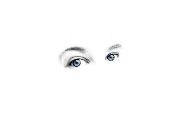 Картинка глаза, человек, белый фон