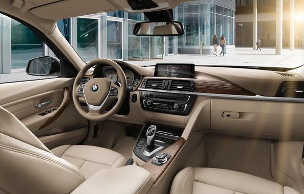 Картинка bmw, бмв, интерьер, руль, седан, салон, sedan, торпедо, лакшери лайн, седенья, luxury line, 328i