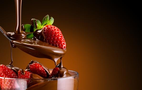 Картинка сладость, десерт, sweet, dessert, клубника в шоколаде, chocolate-covered strawberries