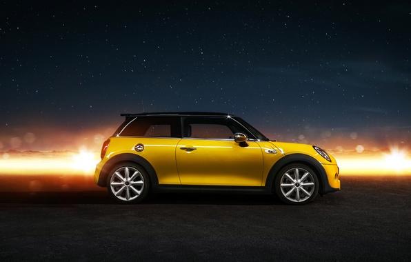 Картинка желтый, Mini, мини, side, купер, Cooper S