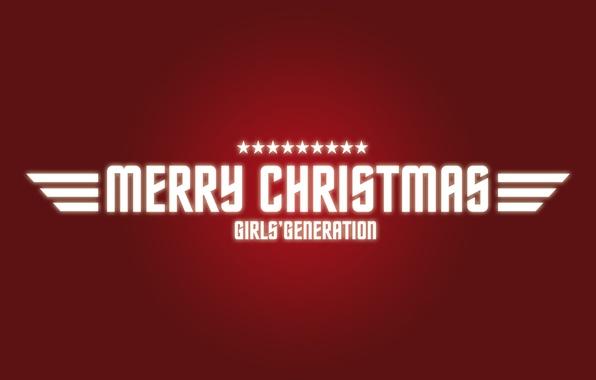 Картинка праздник, новый год, красный фон, merry christmas, girls generation