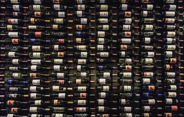 Картинка фон, вино, бутылки