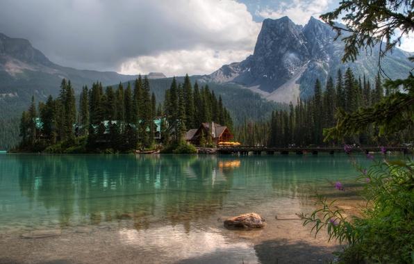 Картинка лес, Alberta, Canada, Lake louise