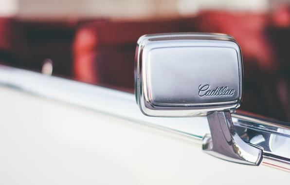 Картинка машина, зеркало, автомобиль, cadillac
