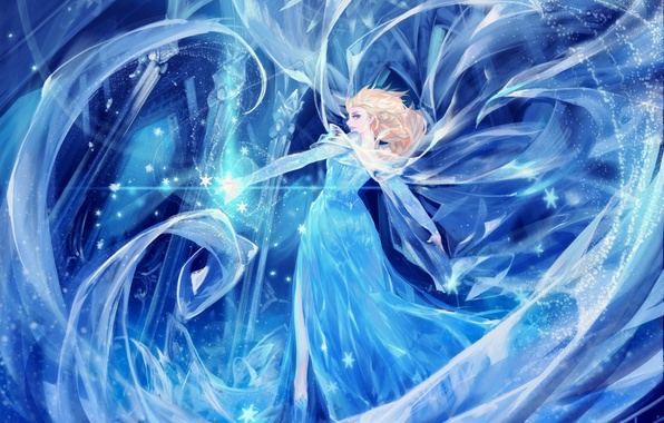 Картинка холод, девушка, арт, frozen, disney, alcd, elsa