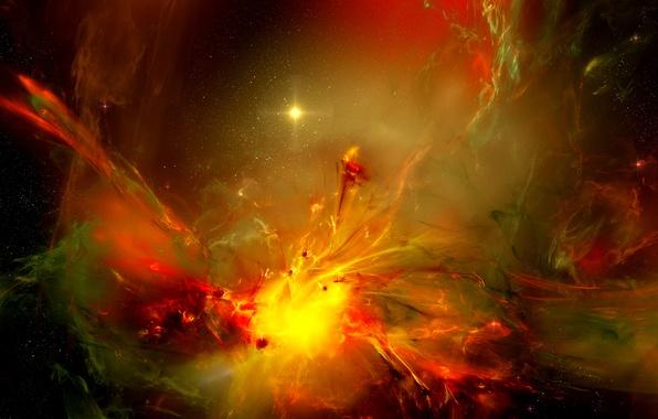 Картинка космос, свет, звёзды, газ, туманности