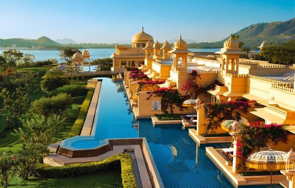 Картинка море, пейзаж, берег, вид, Индия, отель, ареал