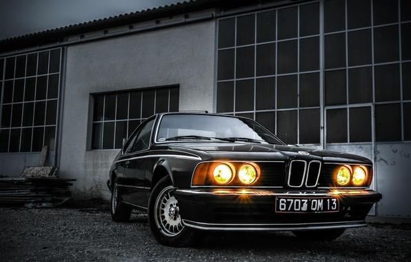 Картинка car, BMW, Классика, black, E24, 635i