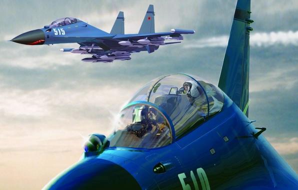 Картинка самолет, истребитель, пилот