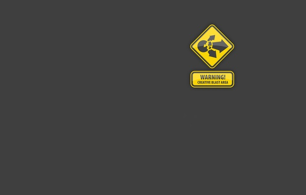 Картинка креатив, опасность, знак, минимализм, creative, warning