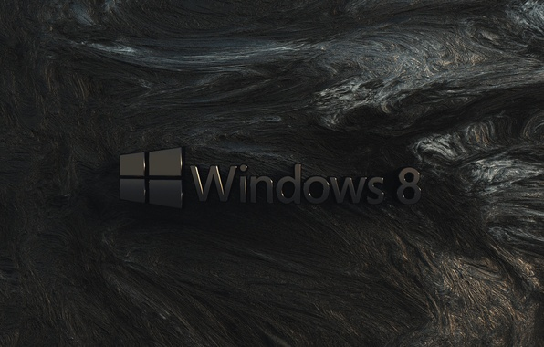 Картинка компьютер, скала, стена, текстура, логотип, эмблема, windows, операционная система