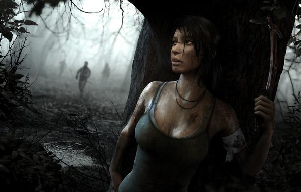 Картинка девушка, игра, Tomb Raider, game, Лара Крофт, выживание, Lara Croft