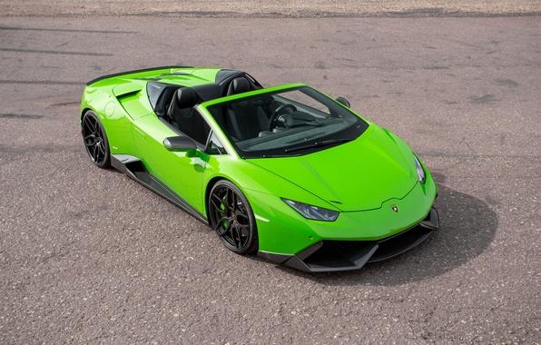 Картинка car, green, Lamborghini, ламбо, суперкар, автомобиль, Spyder, tuning, Novitec, Torado, Huracan