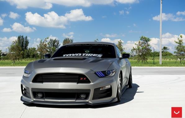 Картинка машина, авто, Mustang, Ford, Форд, Мустанг, wheels, диски, auto, Vossen Wheels