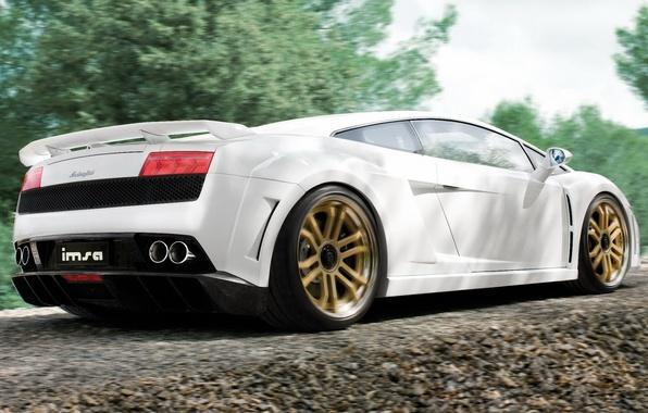 Картинка машина, обои, Lamborghini, тачка, wallpaper, суперкар, Gallardo, cars, Ламборгини, люкс, imsa, Гайардо