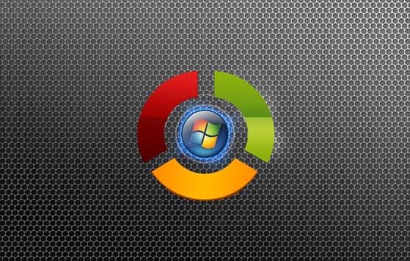 Картинка компьютер, текстура, логотип, эмблема, windows, Google, браузер, операционная система, ячейки, Chrome