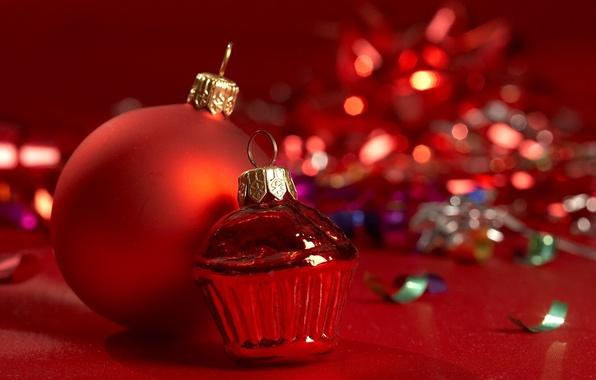 Картинка стекло, фото, фон, настроение, праздник, шары, обои, игрушки, новый год, мишура, ёлочные украшения