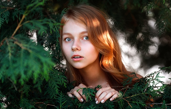 Картинка девушка, удивление, губки, рыжеволосая, Степан Гладков