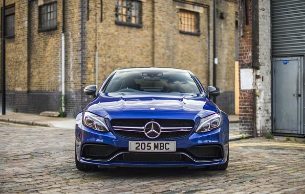 Фото обои Mercedes-Benz, Coupe, C-Class, мерседес, AMG, синий, C205