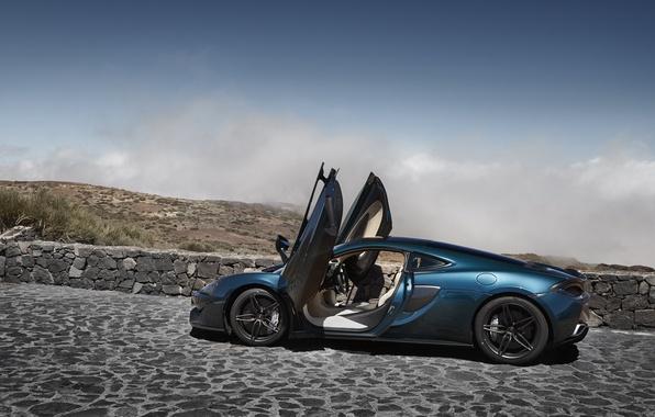 Картинка car, машина, McLaren, двери, суперкар, supercar, открытые, макларен, 570GT