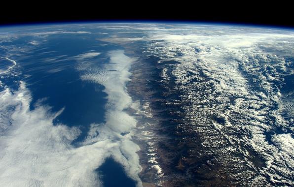 Картинка космос, поверхность, горы, планета, Земля, Анды