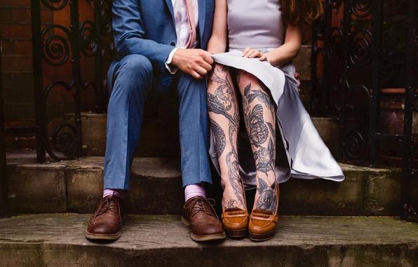 Картинка люди, ноги, тату, татуировки