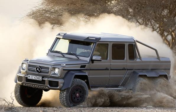 Картинка песок, Mercedes-Benz, пыль, Мерседес, джип, внедорожник, AMG, G63, АМГ, 6x6