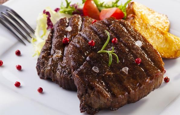 Фото обои фото, Еда, Картофель, Мясные продукты, Стейк, steak