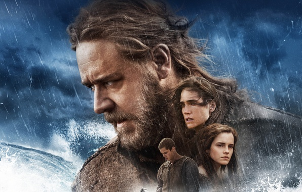 Картинка Action, Fantasy, Emma Watson, Clouds, Lightning, Girls, Wallpaper, Russell Crowe, Sea, Weapons, Male, Face, Man, …