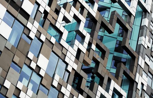 Картинка стекло, краски, здание, окна