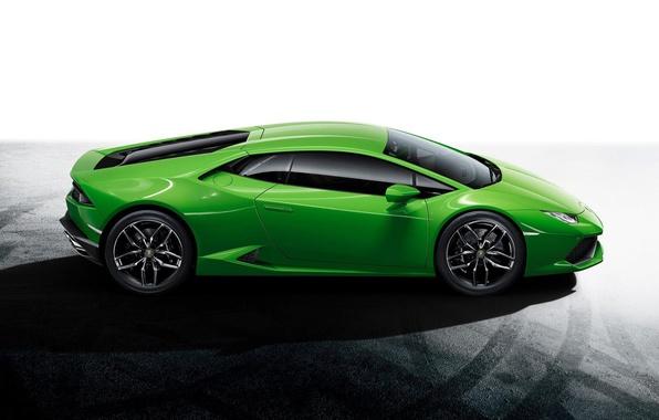 Картинка Авто, Lamborghini, Зеленый, Ламборджини, Green, Сбоку, Уракан, Huracan, LP610-4