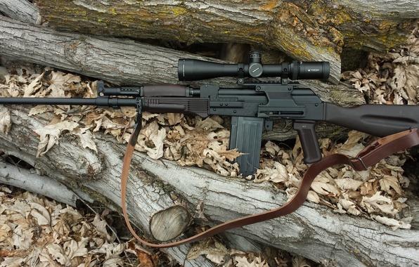 Картинка оружие, оптика, карабин, самозарядный, гладкоствольный, Вепрь-12