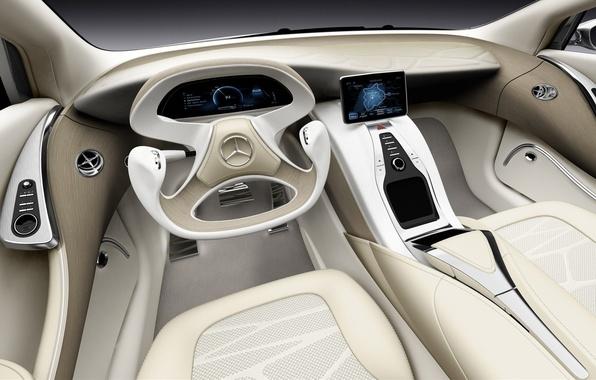 Картинка car, Mercedes-Benz, concept, Mercedes, white, art, background, inside, supercars