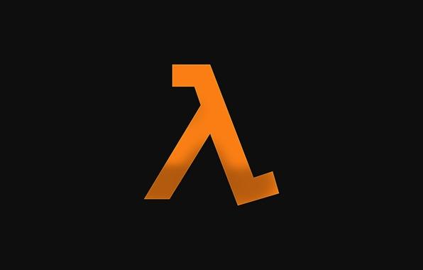 Картинка logo, Half-Life, orange