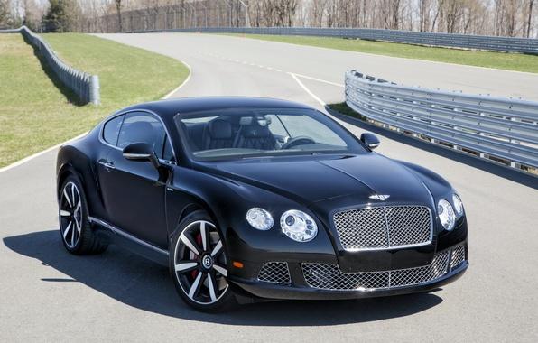 Картинка машина, обои, Bentley, автомобиль, передок, красавец, Continental GT Speed, Le Mans Edition