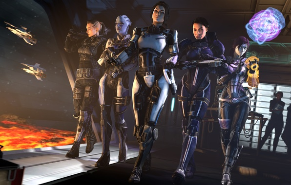 Картинка девушки, mass effect, Miranda Lawson, Ashley Williams, Jack, tali, quarian, asari, Liara T'Soni, Tali'Zorah nar …