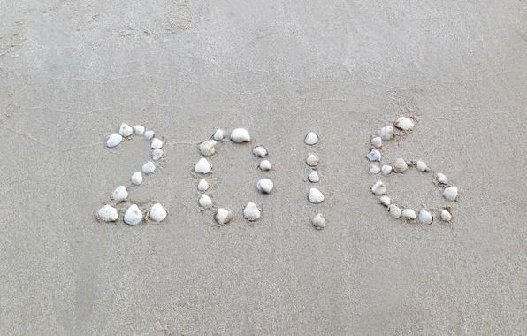 Картинка песок, пляж, камни, Новый Год, beach, sand, 2016