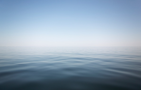 Картинка море, небо, вода, пейзаж, туман, дымка